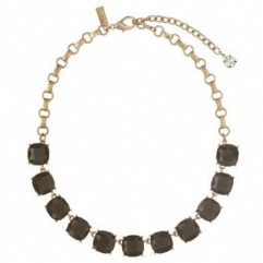 Cushion Cut Stone Necklace Mink